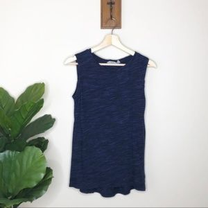 Athleta blue marled loose fit style tank top